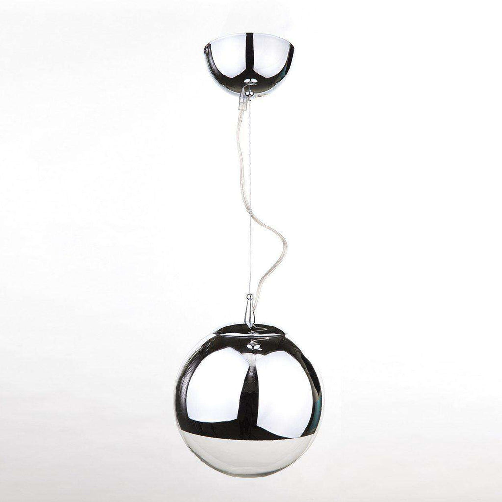 Mid-Century Modern Reproduction Silver Pendant Inspired by Tom Dixon