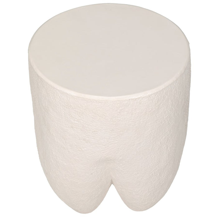 Donald Side Table, White Fiber Cement