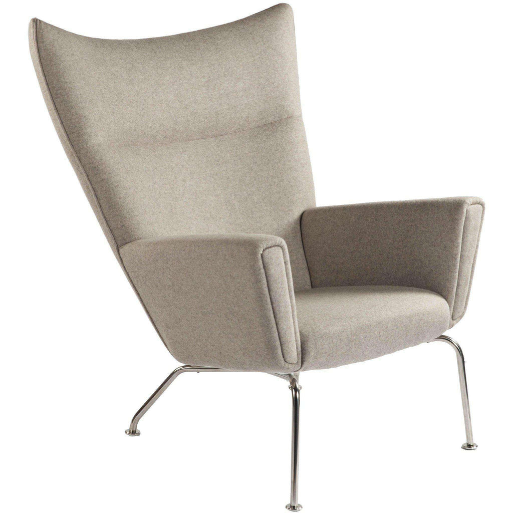 Mid-Century Modern Reproduction CH445 Wing Chair - Wheat Inspired by Hans Wegner