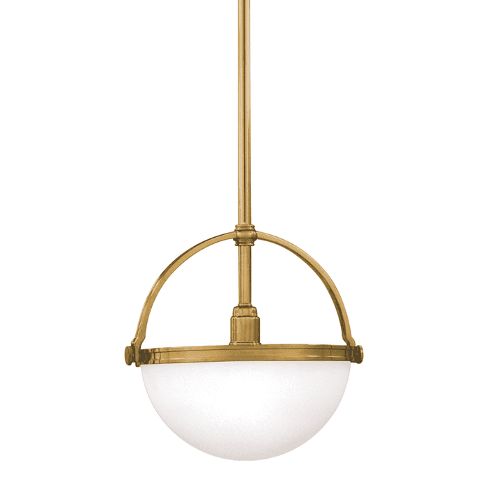Stratford 1 Light Pendant Aged Brass