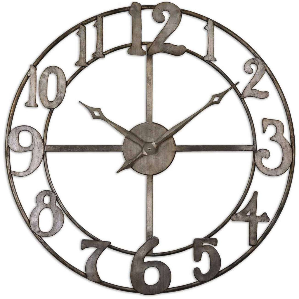 "Uttermost Delevan 32"" Metal Wall Clock"