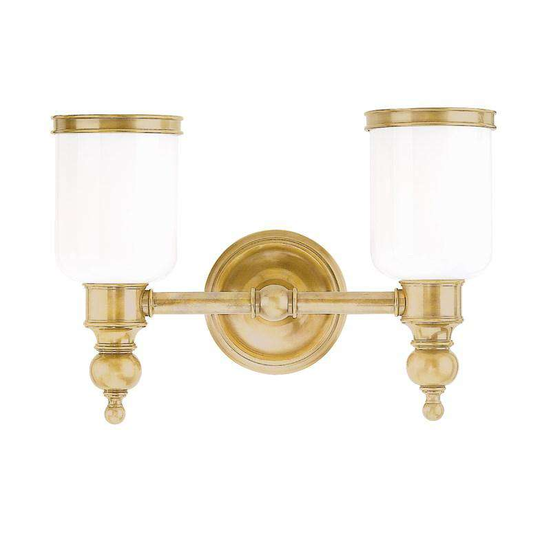 Chatham 2 Light Bath Bracket Aged Brass