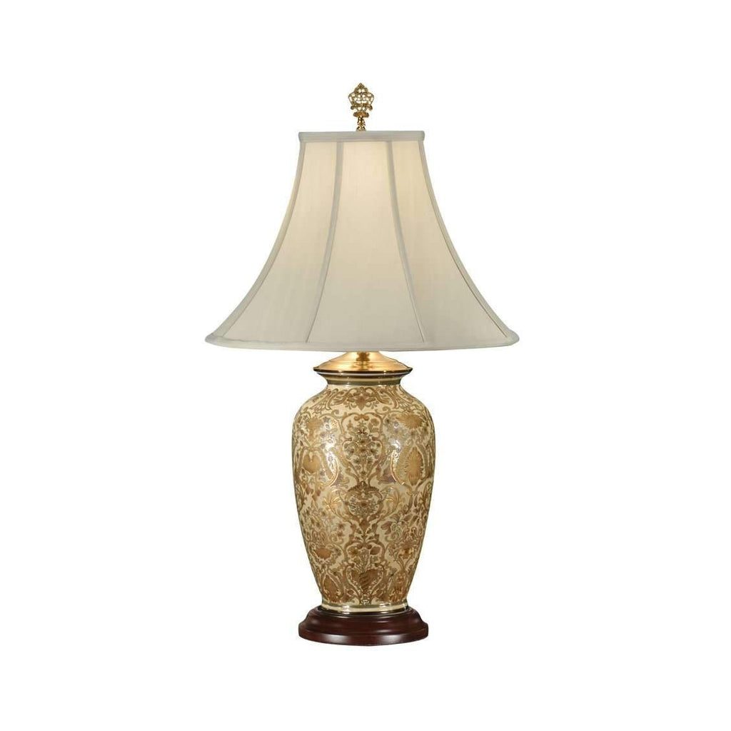 Gold Damask Lamp