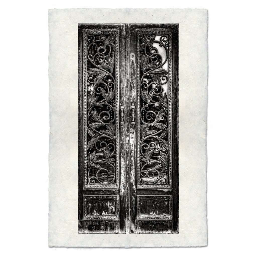 Elaborate Leaves Door Print - BARLOGA-ElaborateLeavesDoorPrint  - Parent
