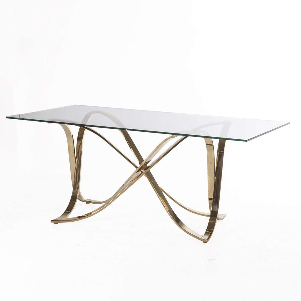 Mid-Century Modern Jiles Dining table - Gold
