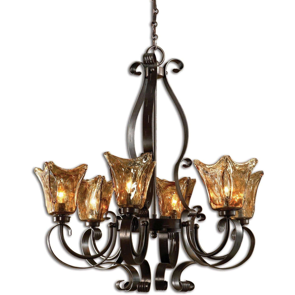 Uttermost Vetraio 6Lt Oil Rubbed Bronze Chandelier