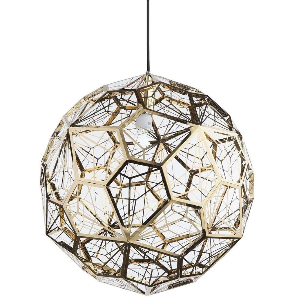 Tom Dixon Etch Light Web Stainless Steel Pendant Gold