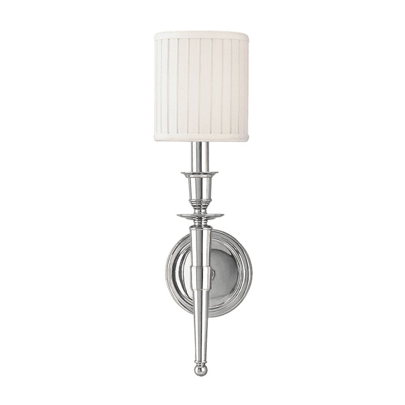 Abington 1 Light Wall Sconce Polished Nickel