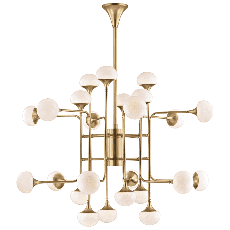 Fleming 24 Light Chandelier Aged Brass