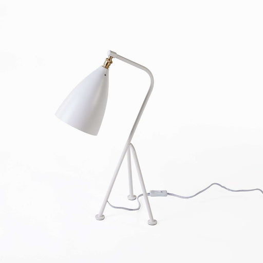 Mid-Century Modern Reproduction Mini Grasshopper Table Lamp - White Inspired by Gretta Grossman