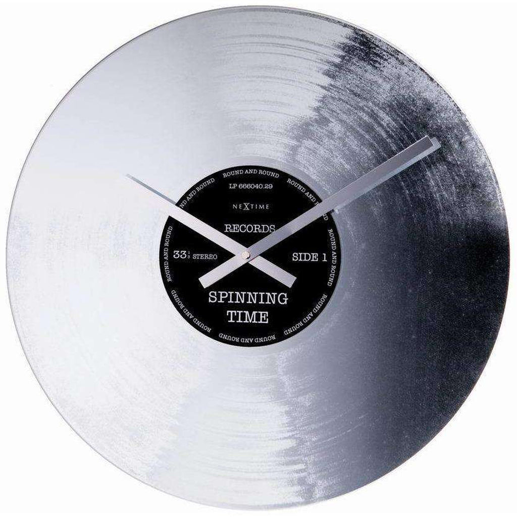 Silver Record Wall Clock by NeXtime 1