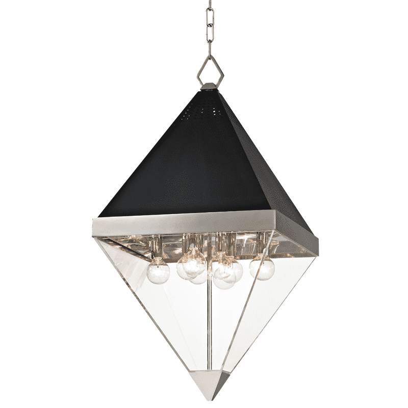 Coltrane 8 Light Pendant Polished Nickel