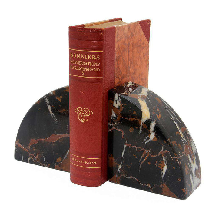Cerasus Collection Black & Gold Marble Bookends
