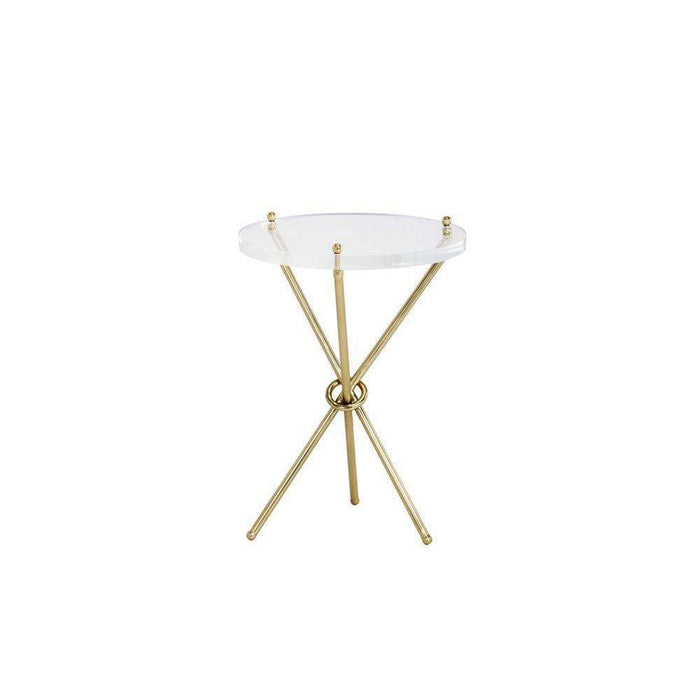 CHER SIDE TABLE - BRASS