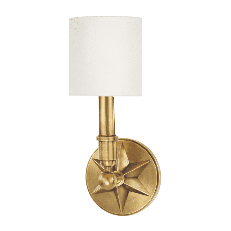 Bethesda 1 Light Wall Sconce Aged Brass