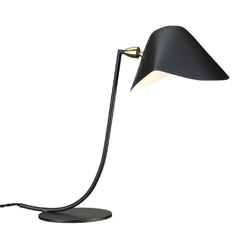 Curved Mouille Table Lamp - Black