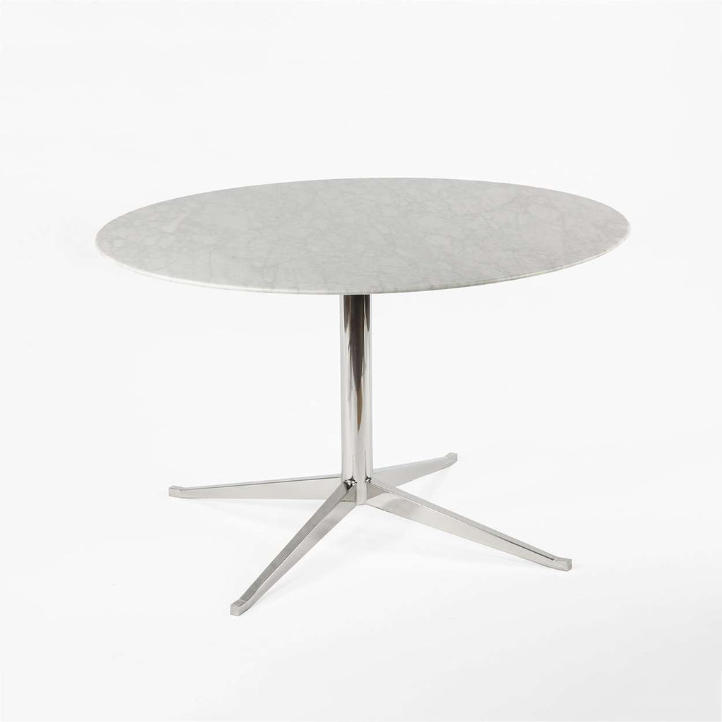Nole Marble Pedestal Table - Round
