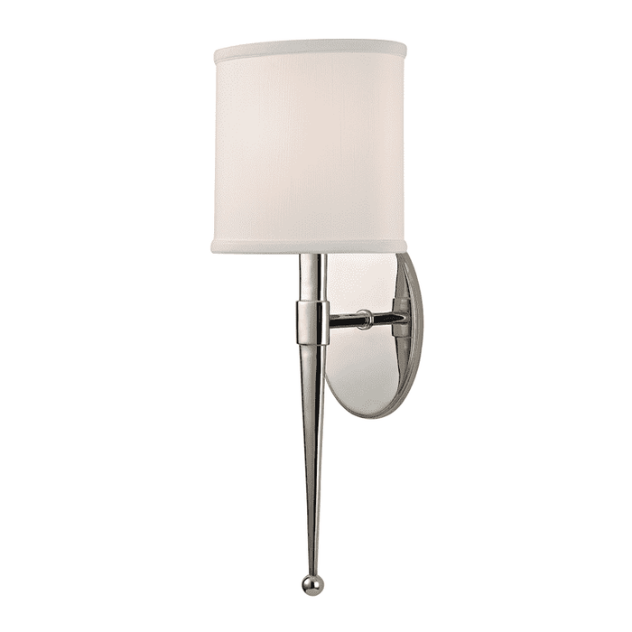 Madison 1 Light Wall Sconce Polished Nickel
