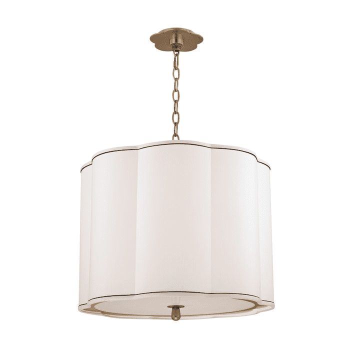 Sweeny 4 Light Pendant Aged Brass