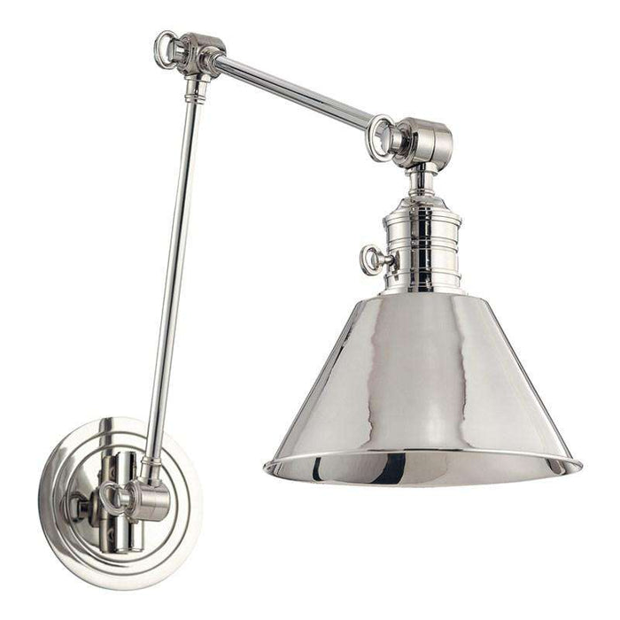 Garden City 1 Light Wall Sconce Polished Nickel