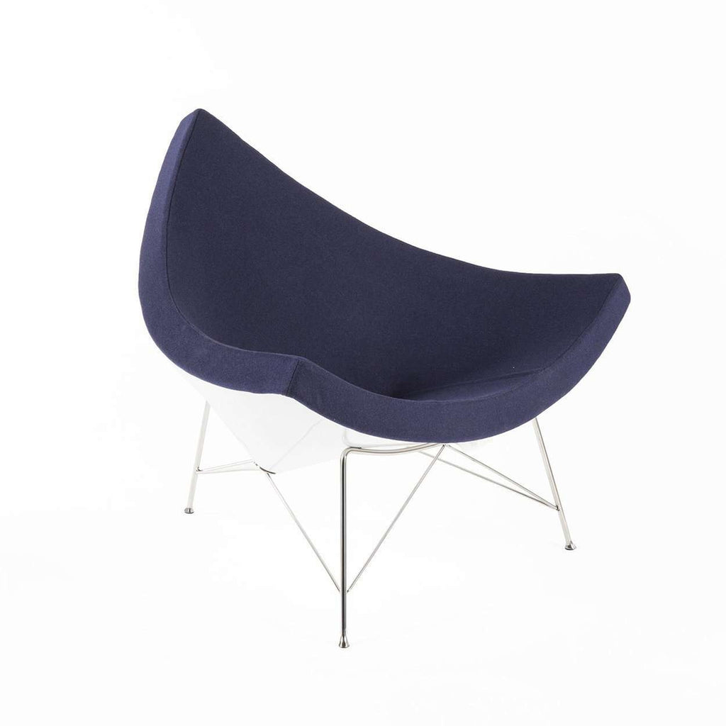 Mid-Century Modern Reproduction Coconut Chair - Blue Inspired by George Nelson