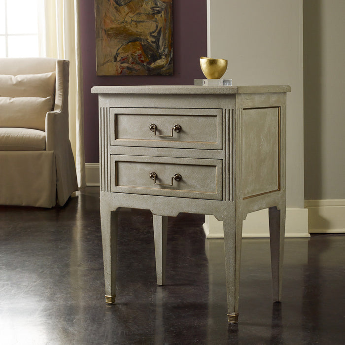 Manor House Bedside Chest-Antique Grey