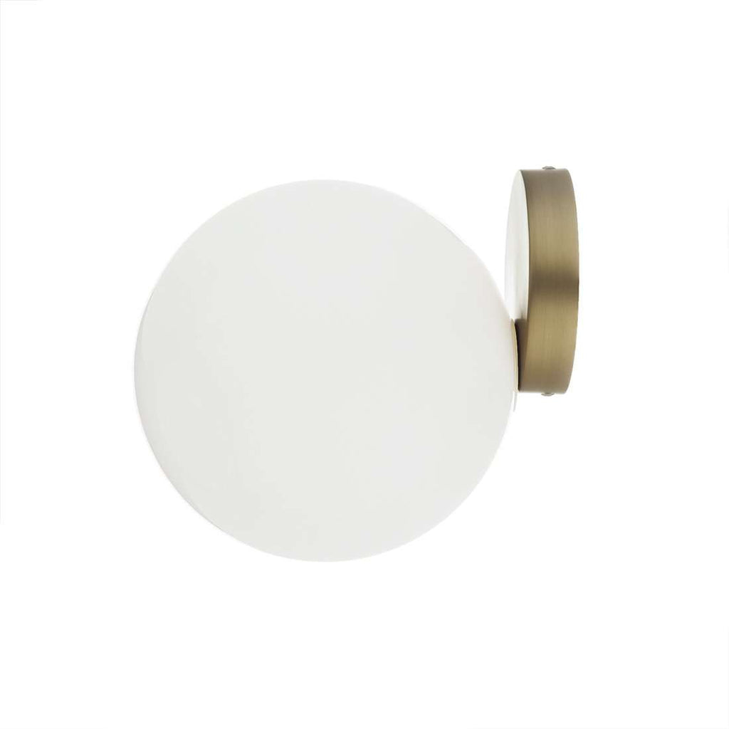 Brass Globe Wall Sconce