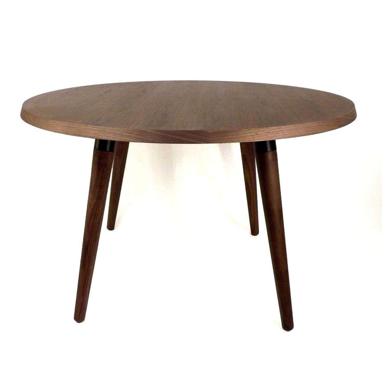 Original Sean Dix Forte Coffee Table Round Glass: Mid-Century Modern Reproduction Round Copine Dining Table