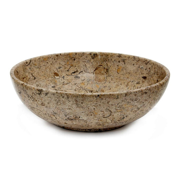 "Laurus Collection Fossil 12"" Stone Bowl"