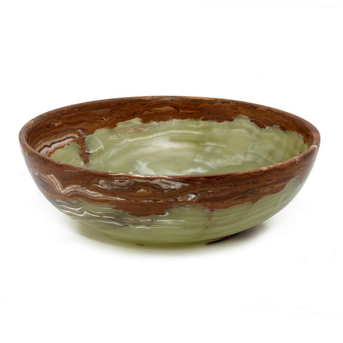 "Laurus Collection Whirl Green 12"" Onyx Bowl"