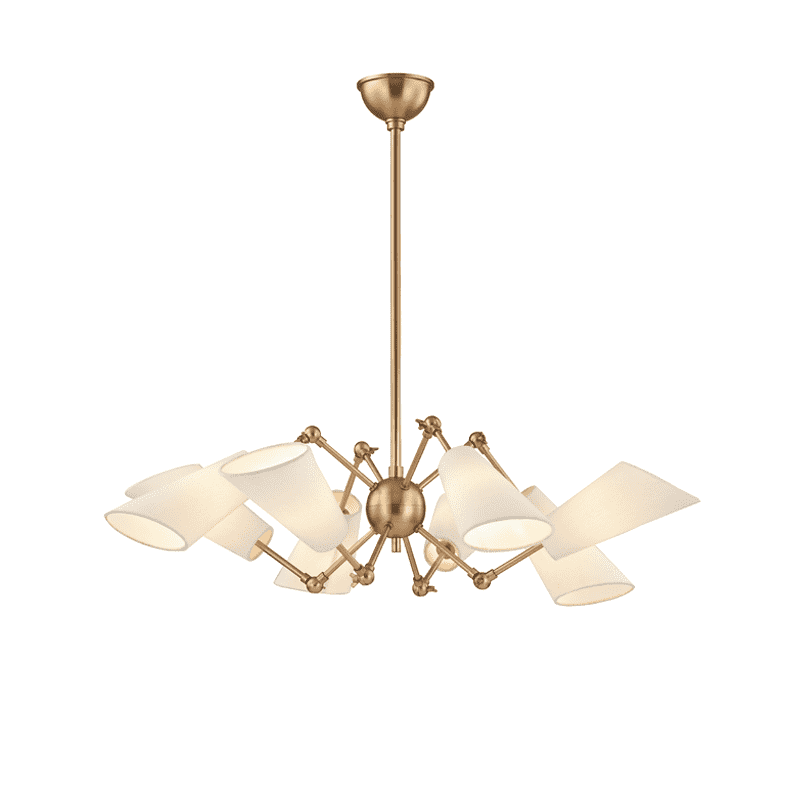 Buckingham 8 Light Chandelier Aged Brass