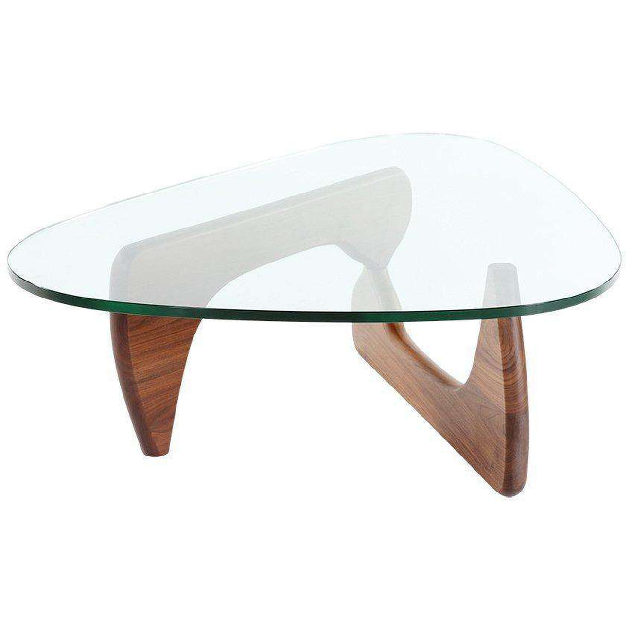 Mid Century Triangle Glass Coffee Table — France & Son