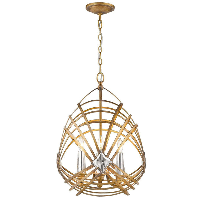 Signet 4 Light Pendant Royal Gold