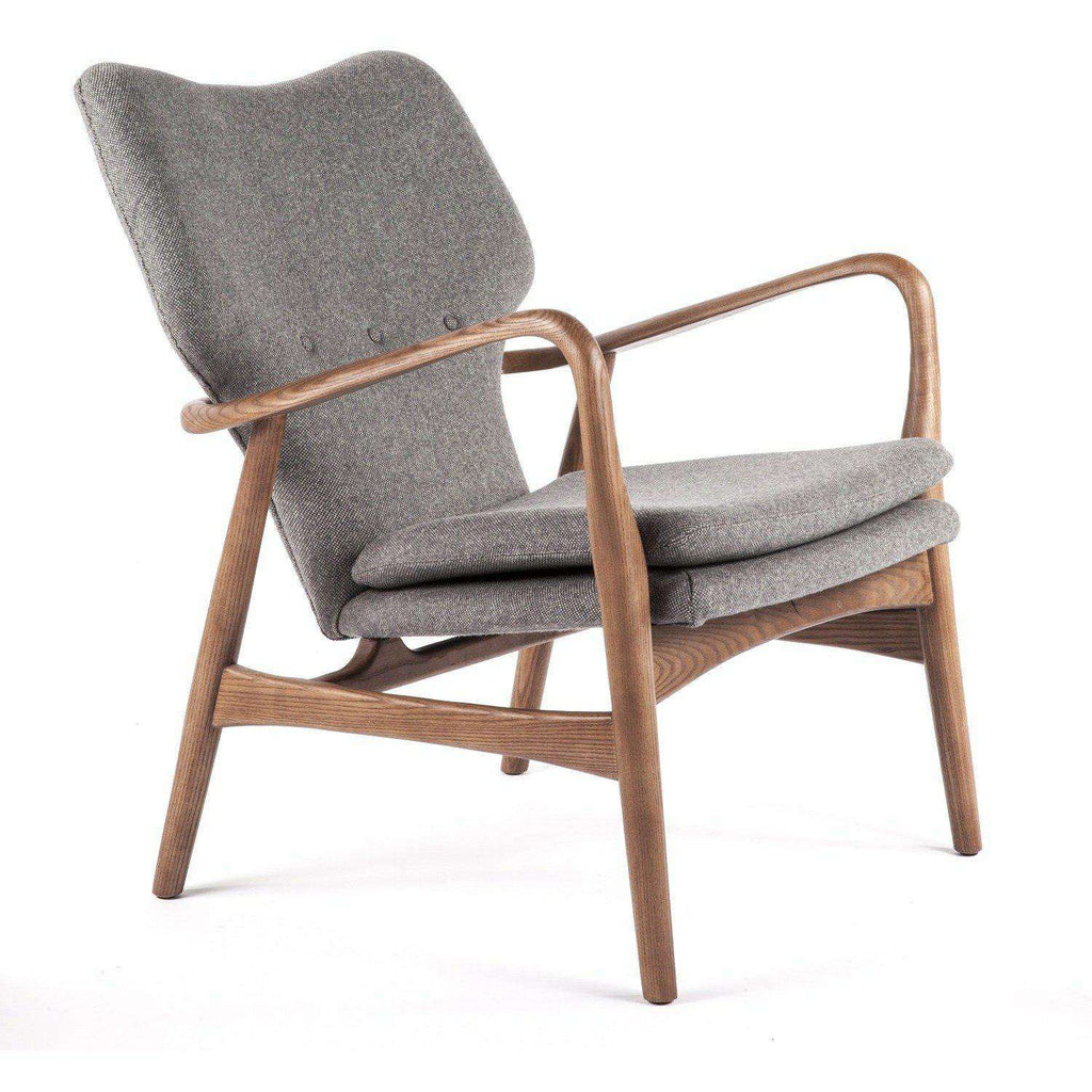 Mid-Century Modern Karola Lounge Chair - Grey