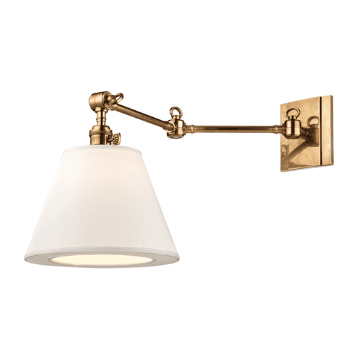 Hillsdale 1 Light Swing Arm Wall Sconc Aged Brass
