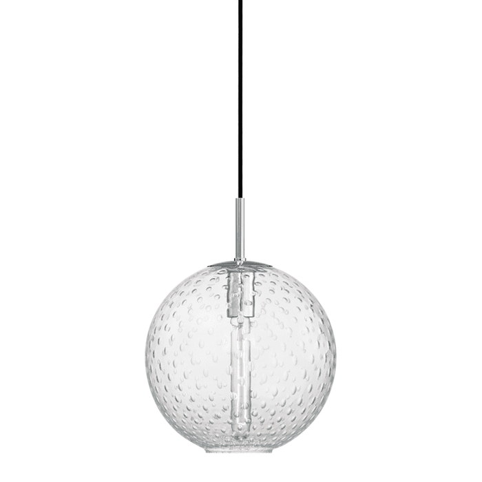 Rousseau 1 Light Pendant-Clear Glass Polished Chrome