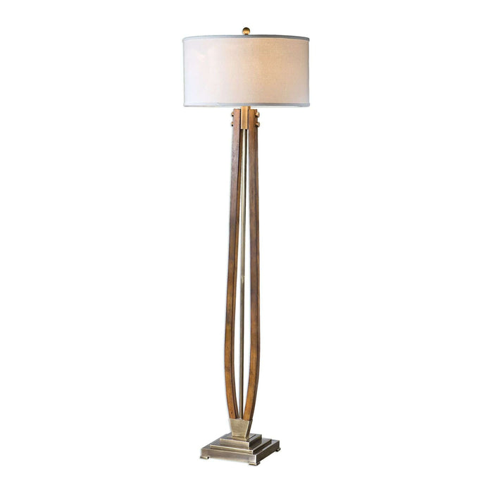 Boydton Burnished Wood Floor Lamp