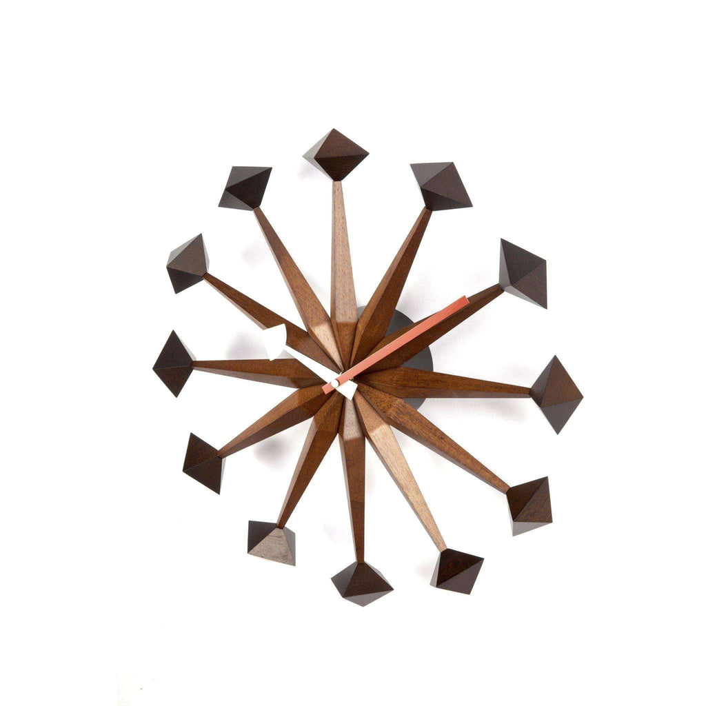 Mid-Century Modern Reproduction Polygon Clock Inspired by George Nelson