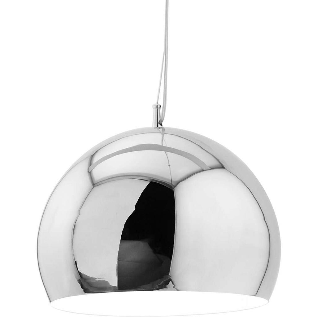 Mid-Century Modern Reproduction Silver Shade Pendant Lamp Inspired by Tom Dixon