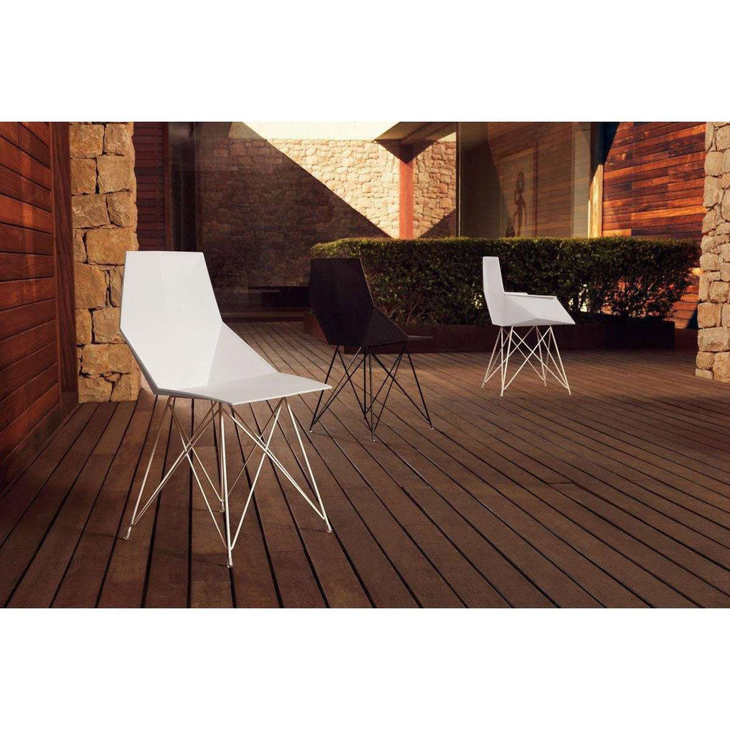 Faz Arm Chair w/ Steel Legs by Vondom