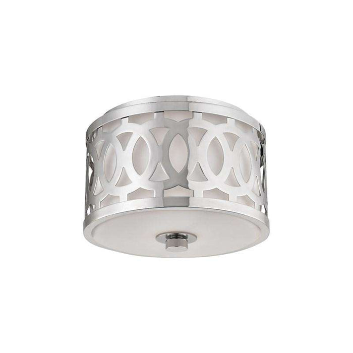 Genesee 1 Light Small Flush Mount Polished Nickel