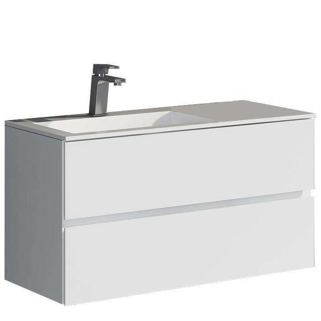 Modern Erlina true solid surface sink and cabinet