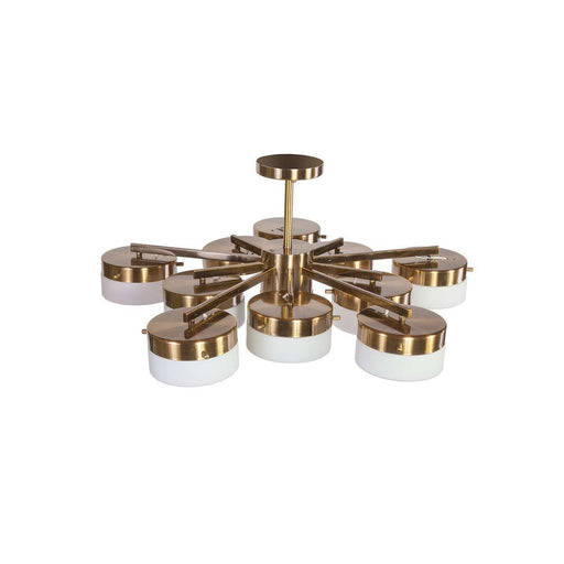 mid century replica Gio Ponti Inspired Brass Ceiling Light