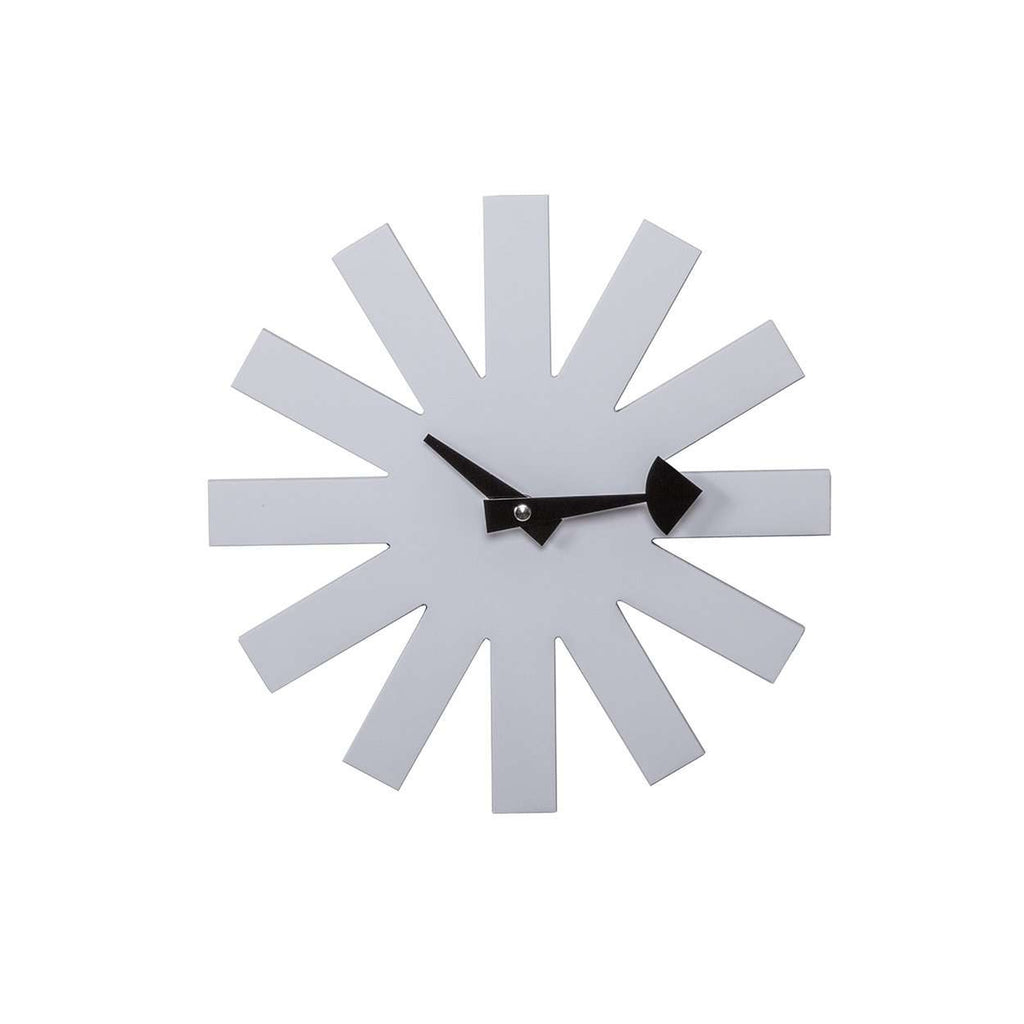 Mid Century Modern Reproduction Asterisk Clock   White Inspired By George  Nelson
