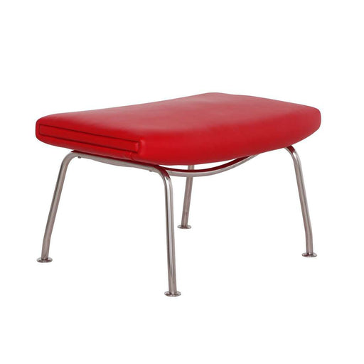CH468 Oculus Ottoman - Red Leather free local shipping only*****