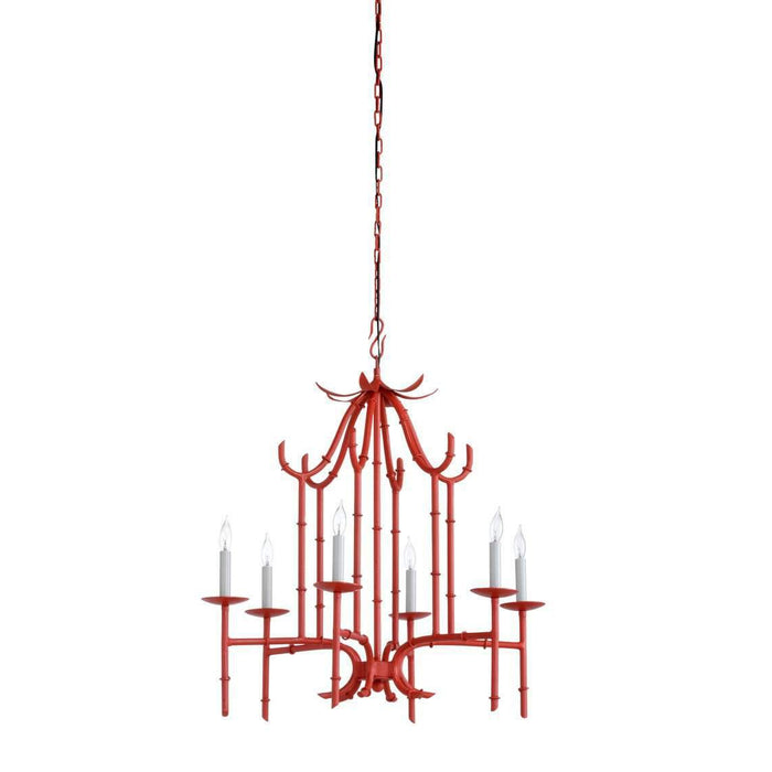 Bamboo Chandelier - Red