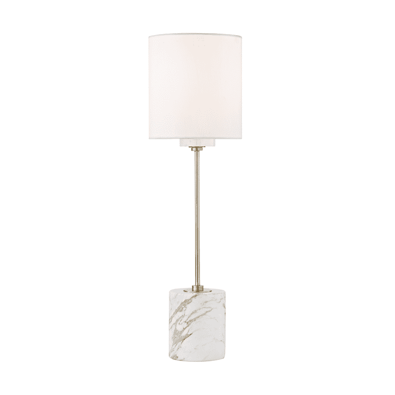 Fiona 1 Light Table Lamp With A Marble Base - Aged Brass