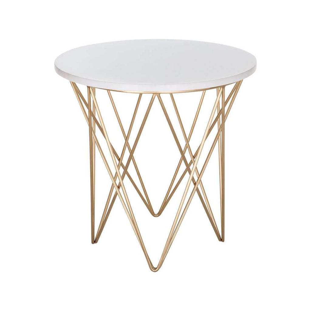 Merveilleux Rector Marble Side Table
