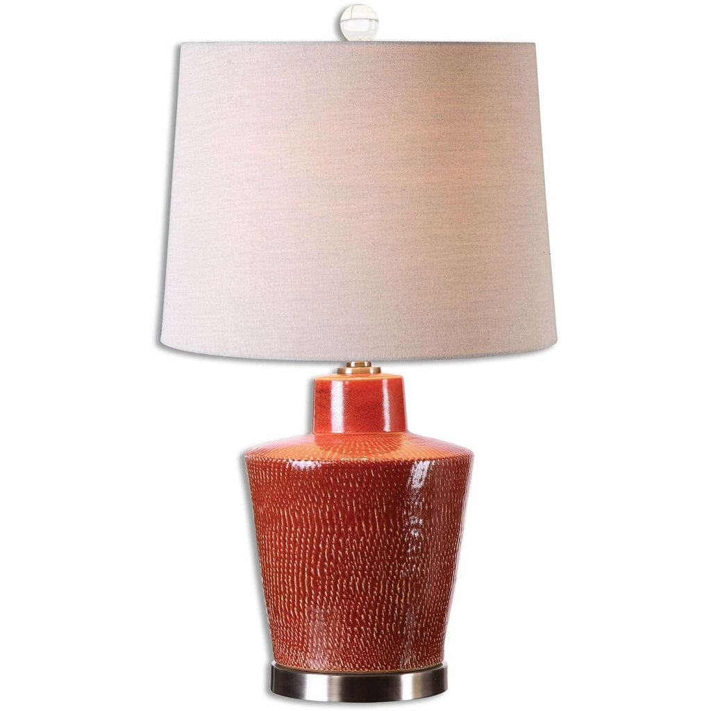 Uttermost Cornell Brick Red Table Lamp