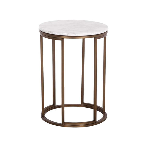 Porter Marble Side Table - Copper - *PICK UP ONLY*